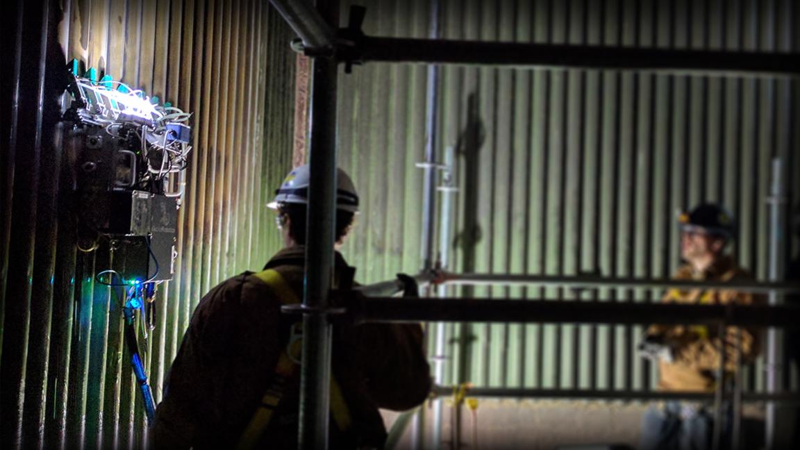 Pulverized Coal Boiler Robotic Inspection Timelapse
