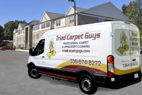 triad carpet guys service van