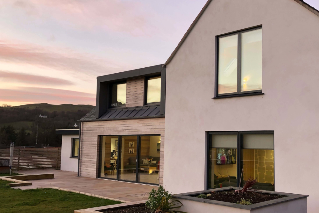 Contemporary new build house Hatteringill in the Lake District