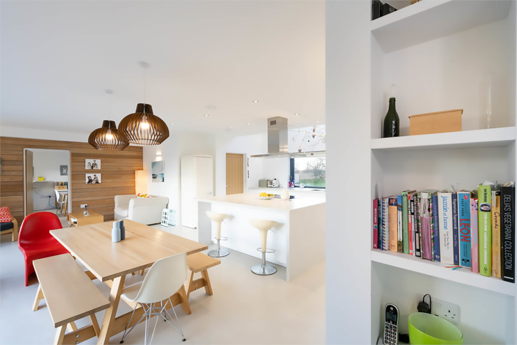 Light and spacious open plan kitchen-diner at Hatteringill in Lorton