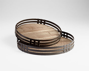 Wooden Coffee Table Trays