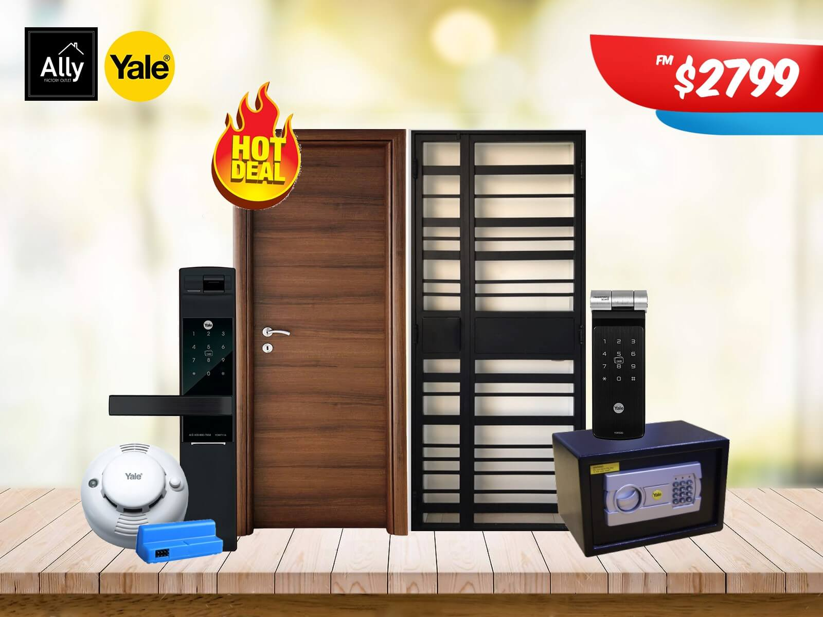 Ally Factory Outlet - Door, Gate, Lock and Safe Promotion 20191016 - 04