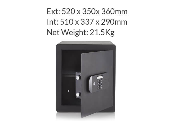 YSEB/520/EB1 - Yale High Security Large Safe - Yale High Security Motorised Safes