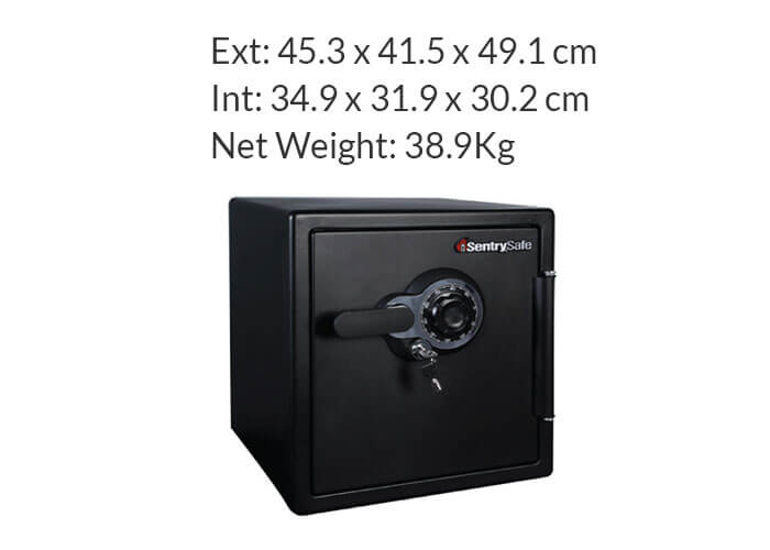 SentrySafe - SFW123DTB - Combination fire & water proof Safe