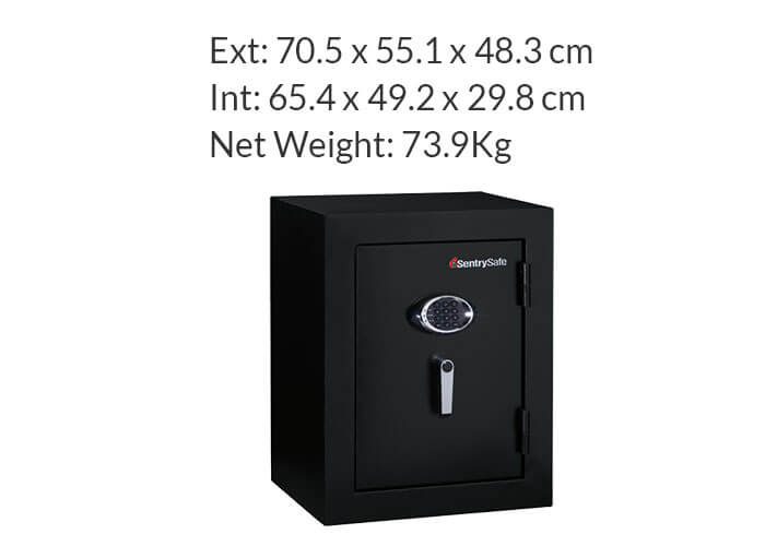 SentrySafe - EF3428E - Executive digital fire proof Safe