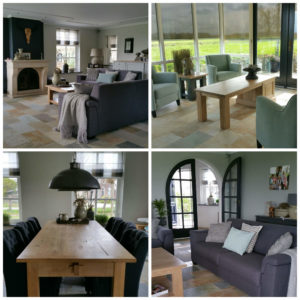Foto na het indelen woonkamer - landelijke woonkamer