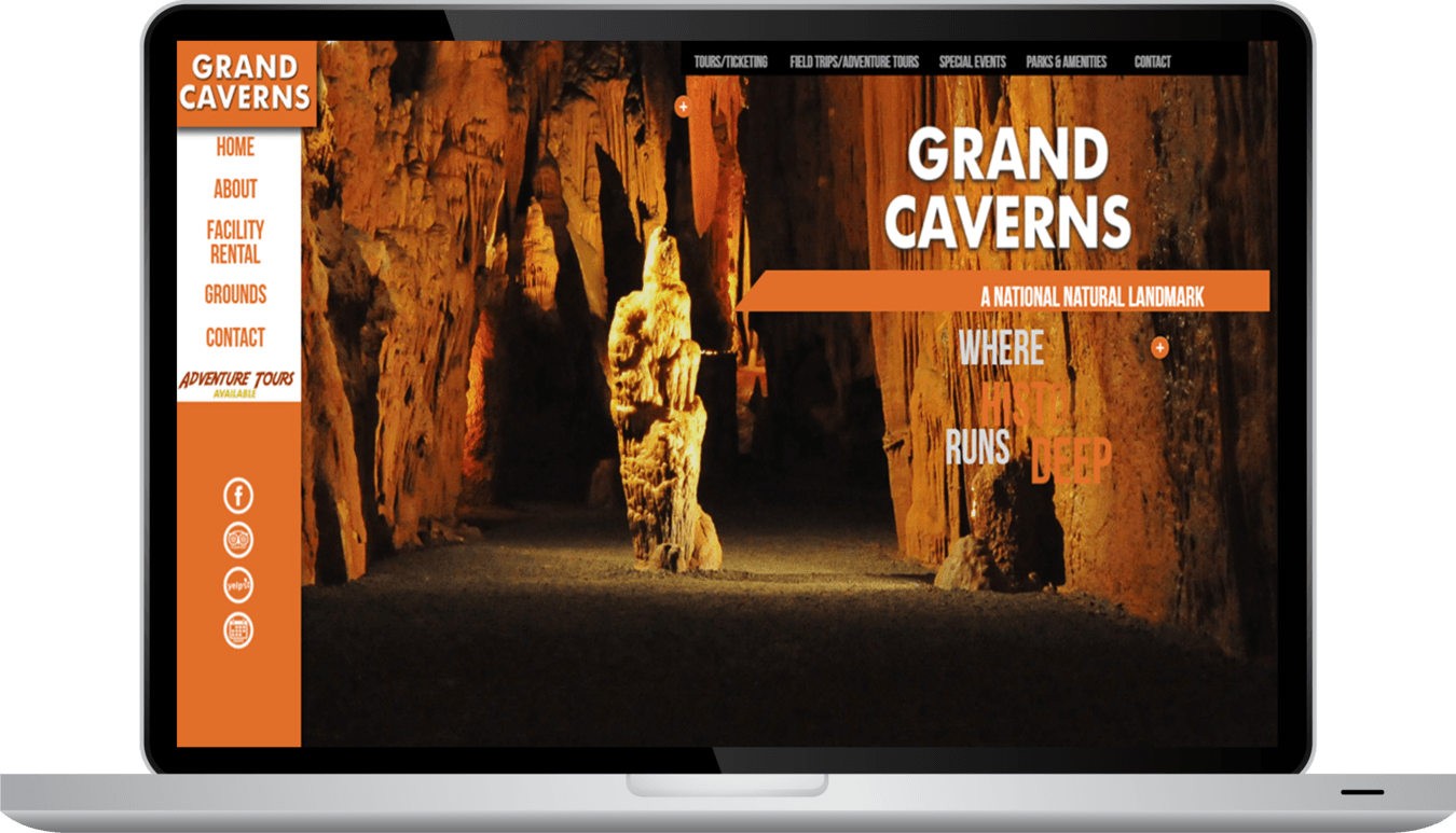 Grand Caverns Website