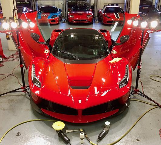 Ferrari Special during ceramic coating installation in Orlando FL