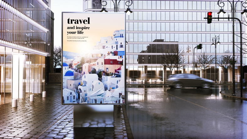 Digital OOH billboard in the city.