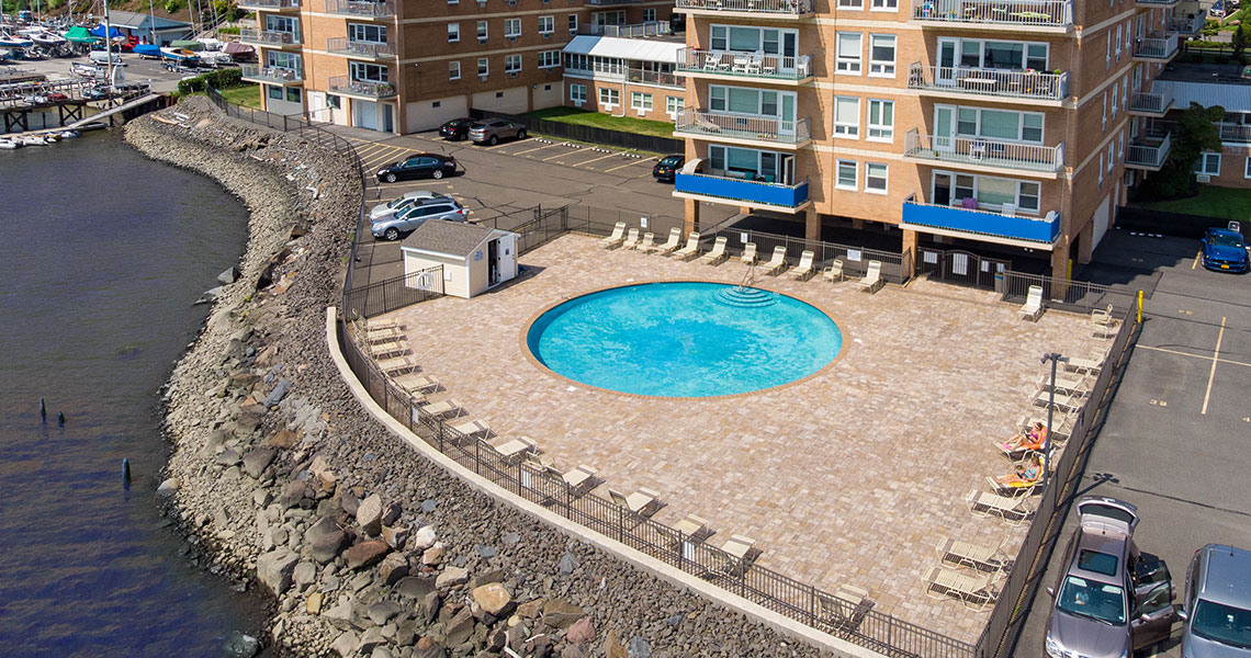Swimming pool at West Shore Towers