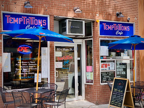 Temptations cafe in Nyack, New York