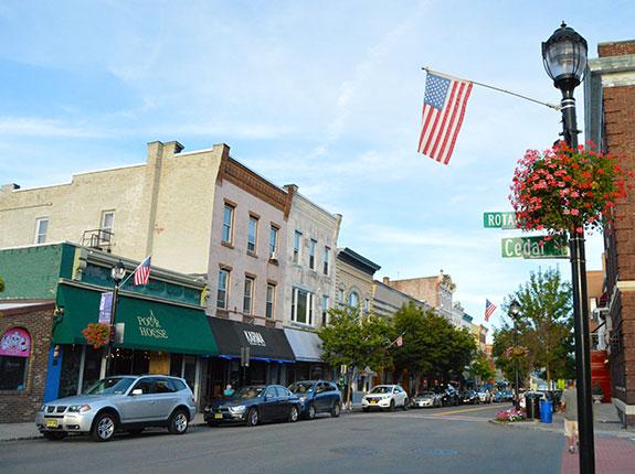 Main Street in Nyack, New York looking east