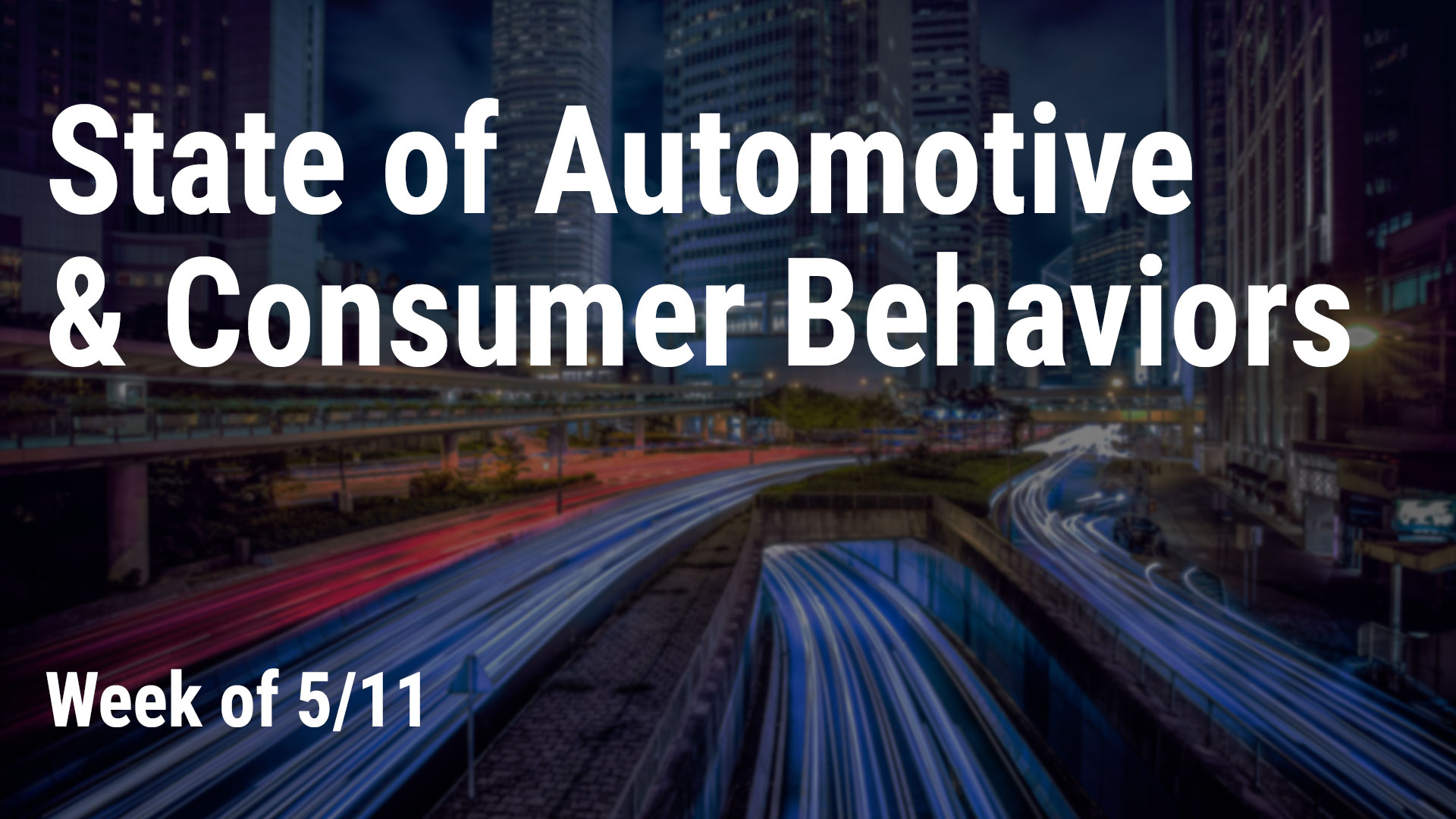 State of Automotive & Consumer Behaviors, week of 5/11