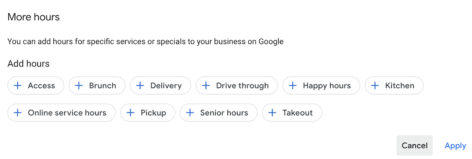 Google My Business More Hours Features For Listings