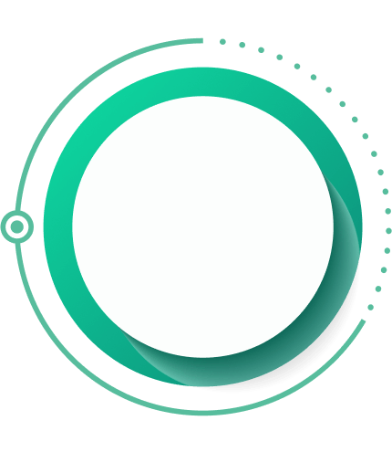 green and gray circle