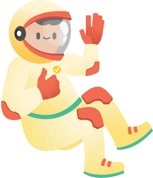 Hero - Flip Inc Astronaut