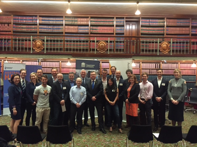 Mike Page from Meeco and the other start-ups attending the Austrade/NSW Gov Delegation to Tel Aviv including NSW Minister for Industry Anthony Roberts