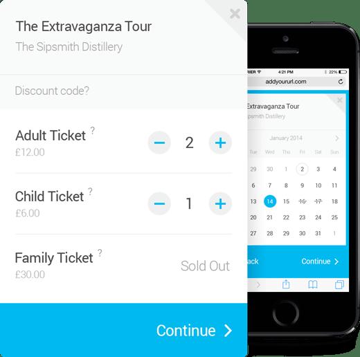 TicketingHub simple and intuitive widget