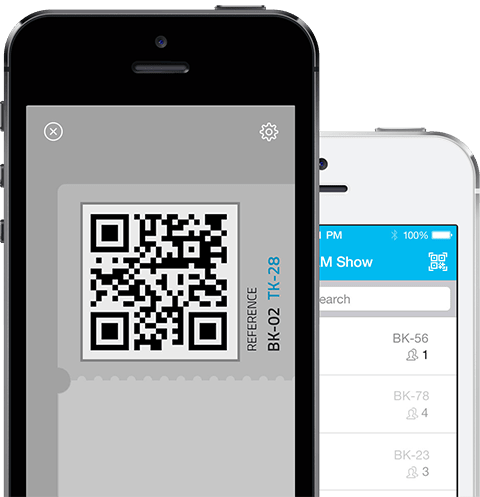 Our Mobile app allows you to scan tickets on the go from your phone