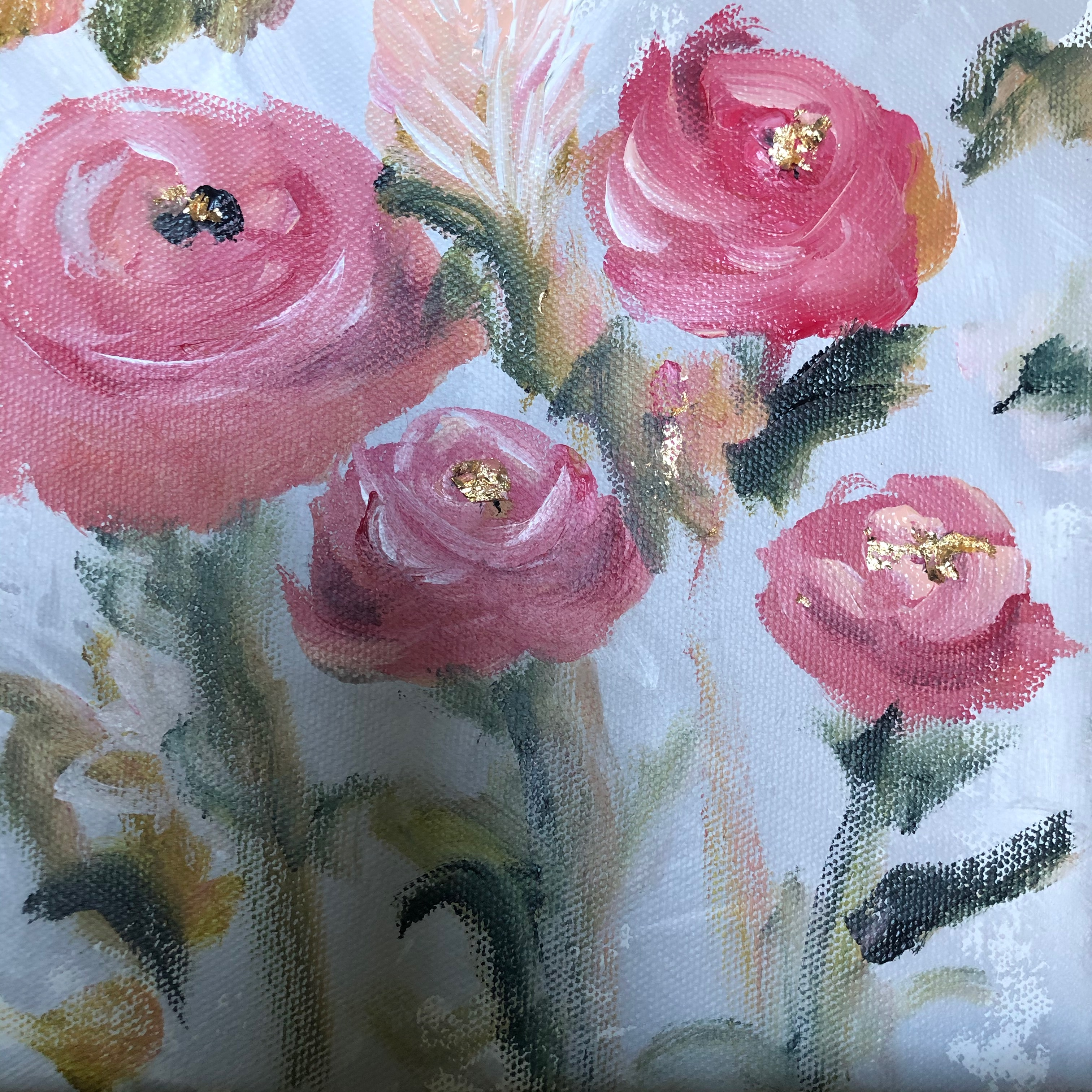 """Everything is Rosy 8"""" x 8"""" x 1.5"""""""