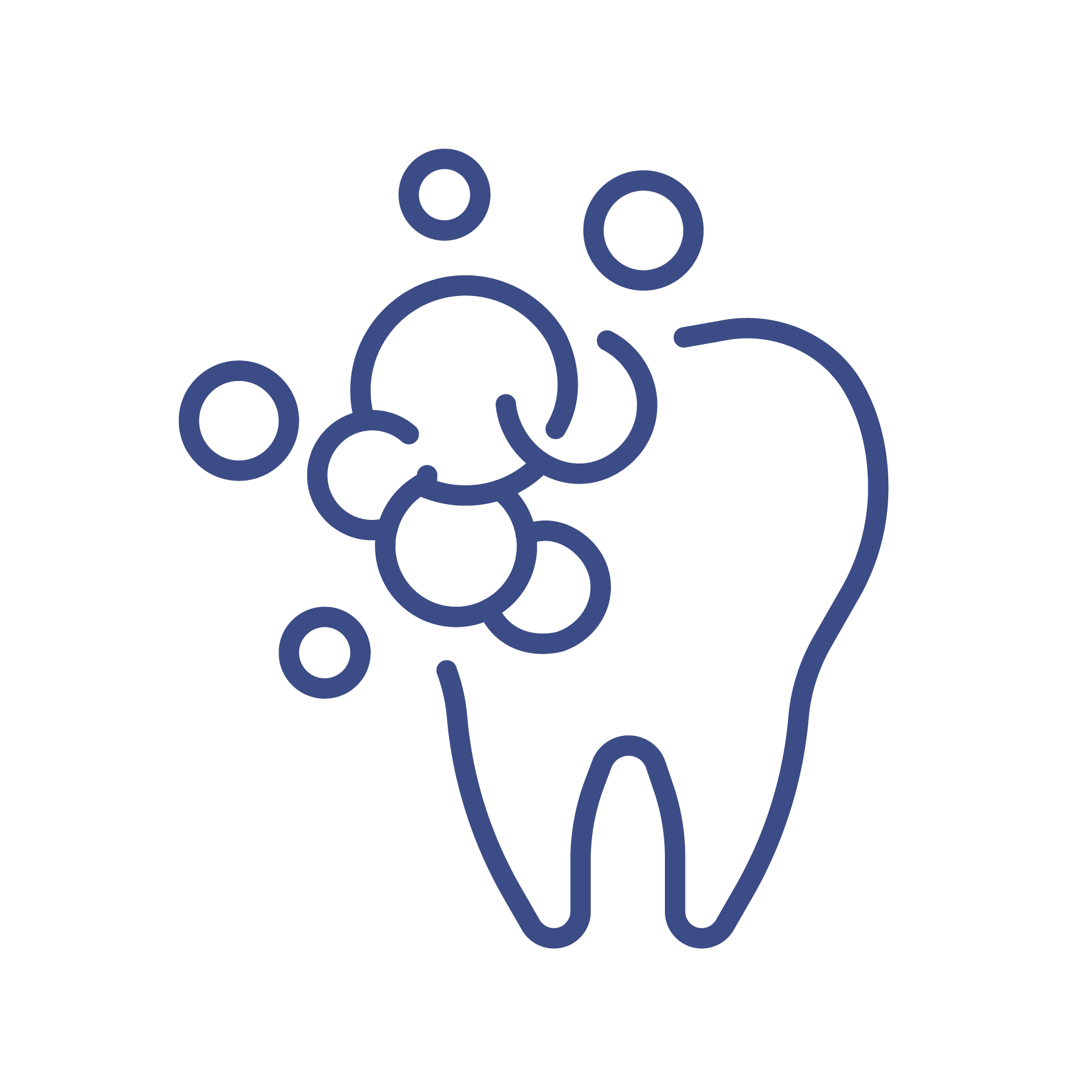 tooth being cleaned icon
