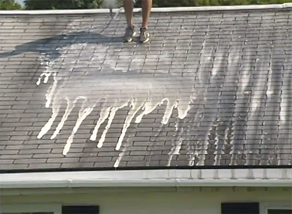 gentle soft wash roof cleaning