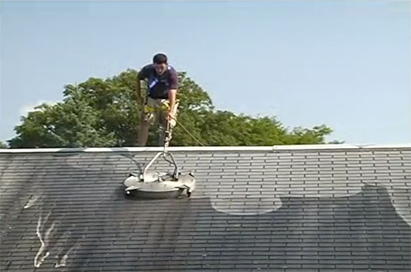 roof cleaning before and after in baltimore