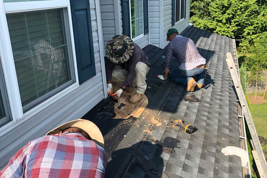 residential roof leak repair
