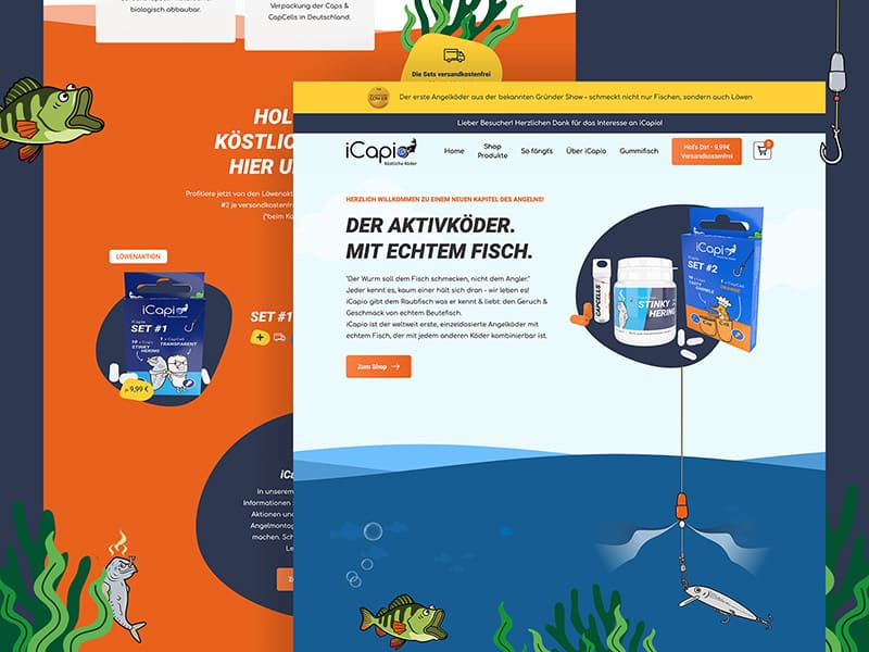 Homepage des iCapio Online-Shops