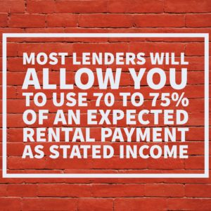 can you use rental income to qualify for a duplex