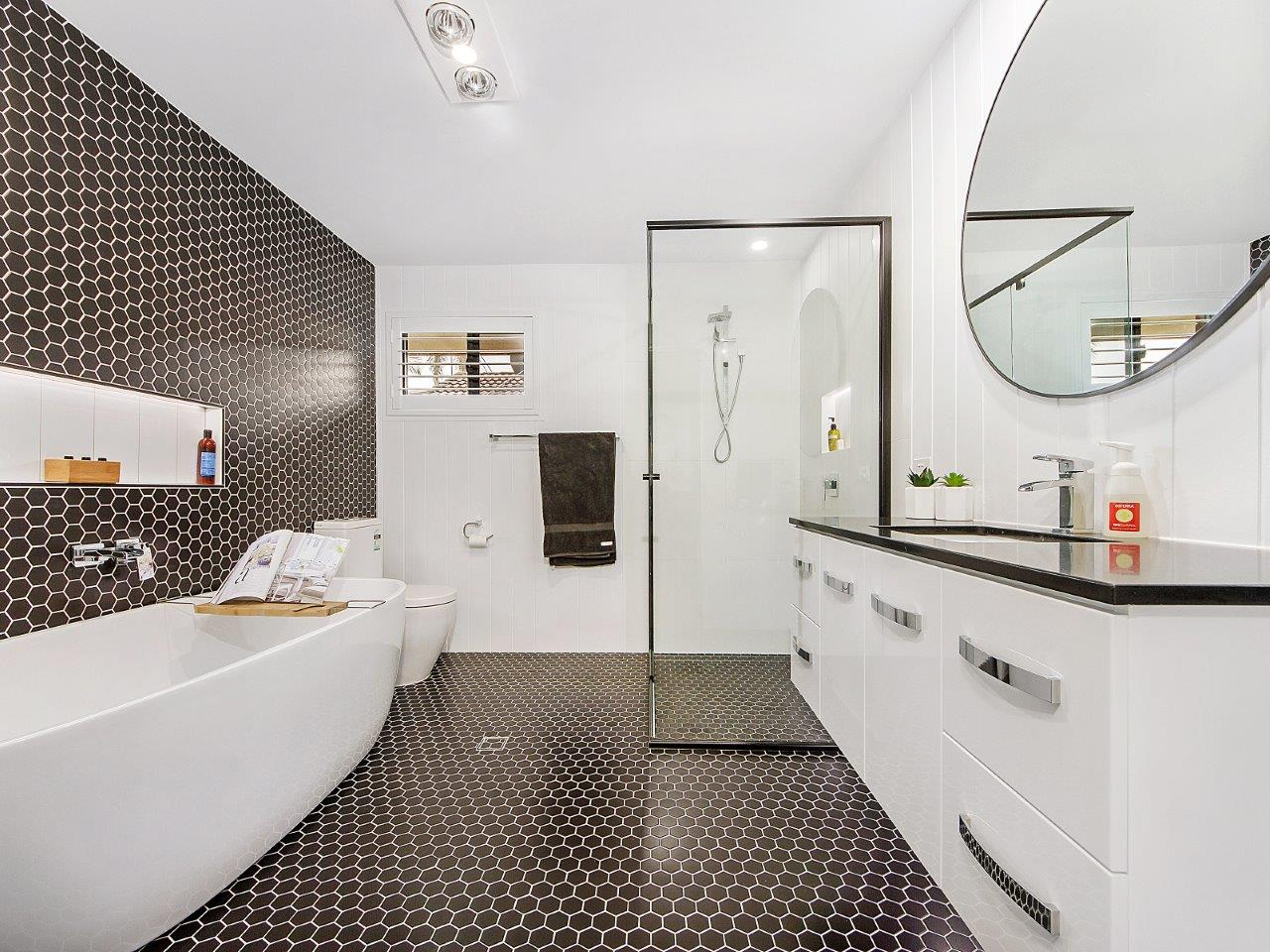 Modern bathroom renovation