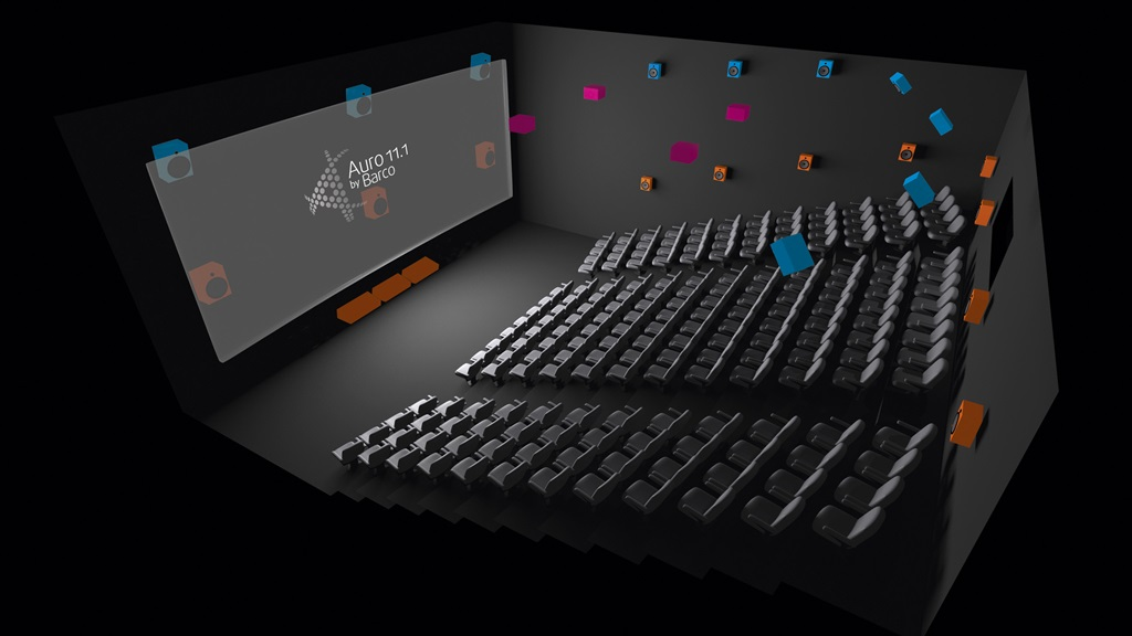 Auro 11.1 Cinema with its unique 3 layered speaker layout.