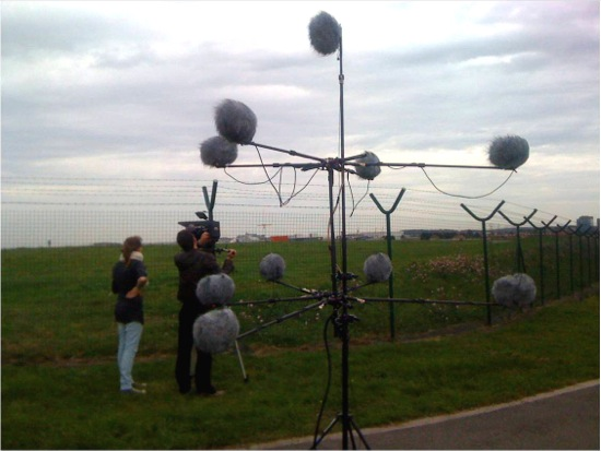 A large Auro-3D recording rig.