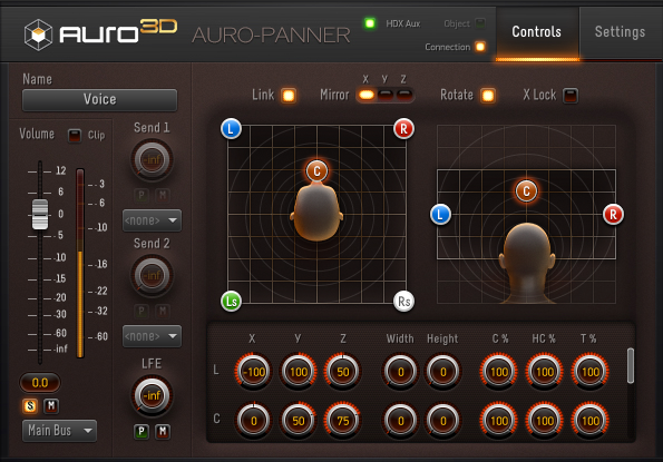 The Auro-Panner plugin.