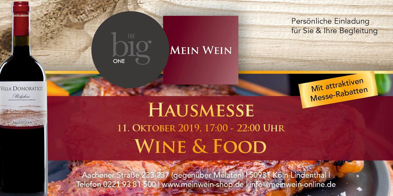 THE big ONE auf der MEIN WEIN HERBST-MESSE – WINE & FOOD
