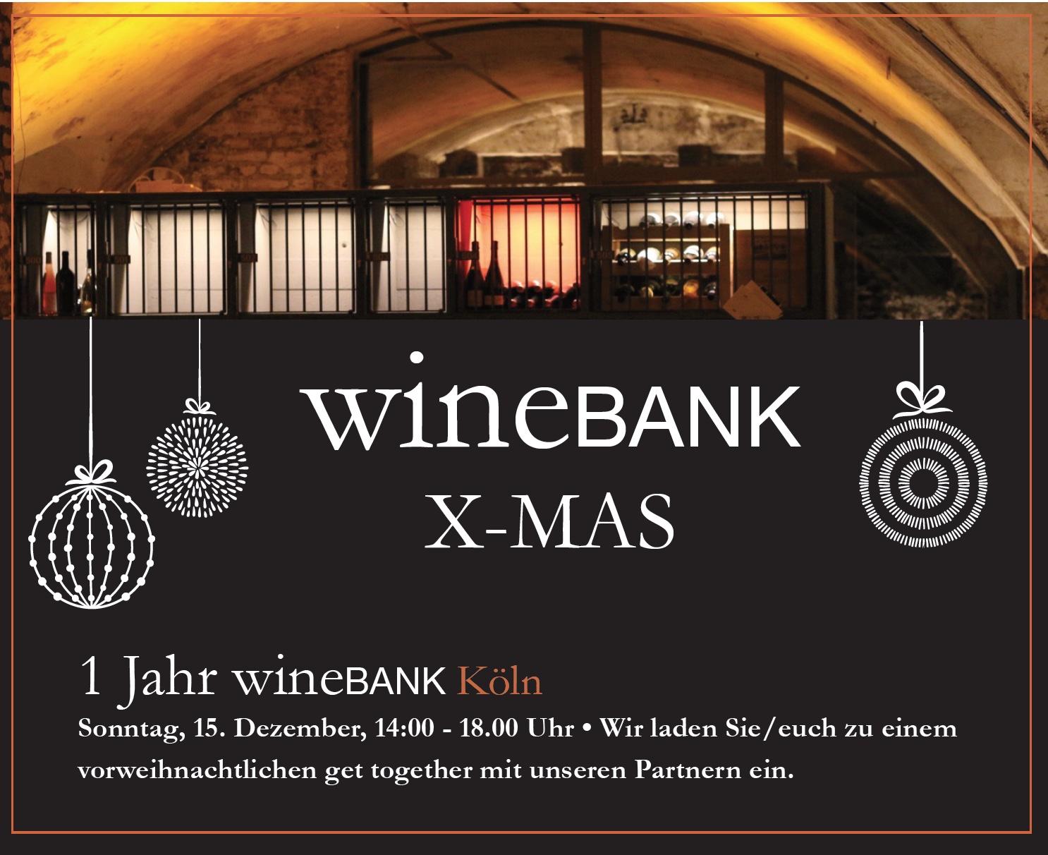XMAS in der wineBANK Köln - Einladung