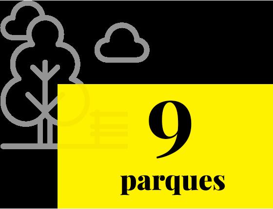Ícone de uma sacola de compras com o seguinte texto: 5 shoppings