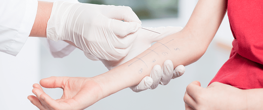 Types of Allergy Testing include skin tests.