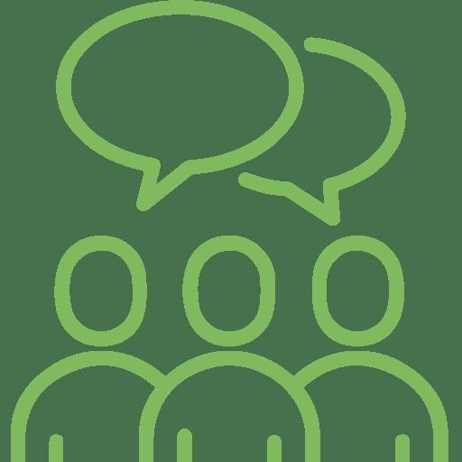 People Speaking Green