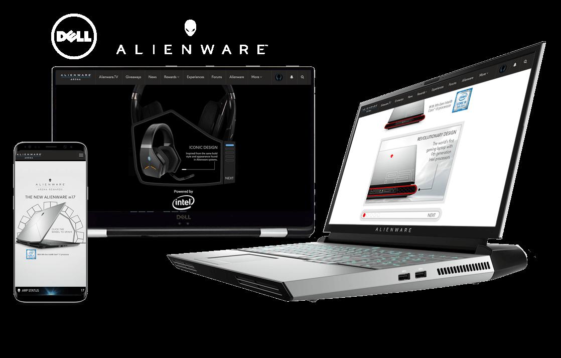 Dell Alienware in-screen examples