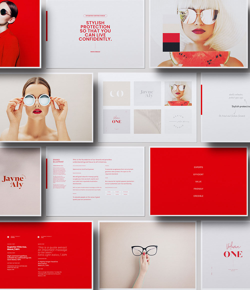 An overview of a creative moodboard design for one of clients.