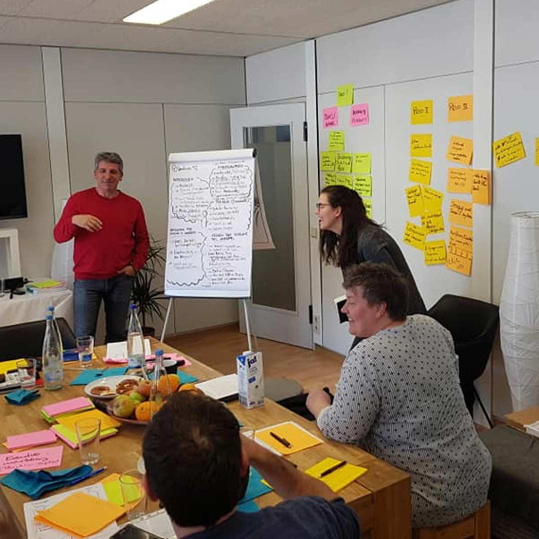 Unser Kunde Weingärtner Esslingen zum Workshop für das Thema Kommunikationsstrategie bei ideenhunger