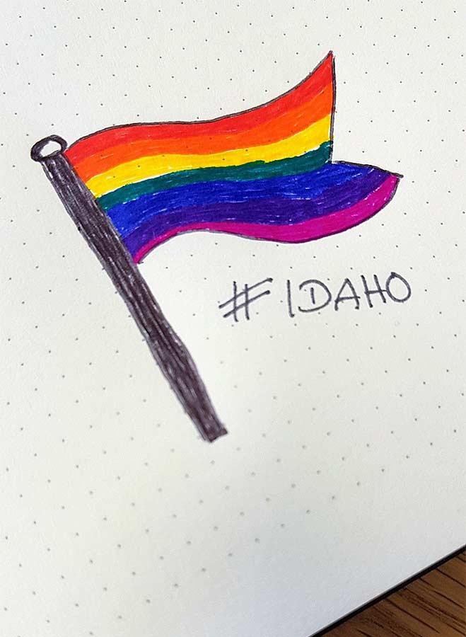 Zeichnung von ideenhunger für den internationalen Tag gegen Homophobie