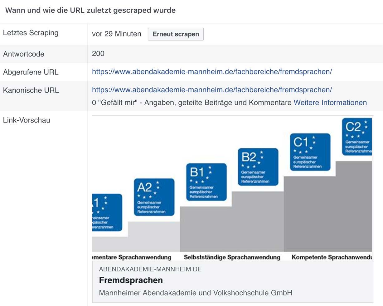 Screenshot einer Link-Vorschau der Abendakademie Mannheim