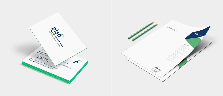 Das neue Corporate Design in der Büroausstattung der pisa Versicherungsmakler GmbH