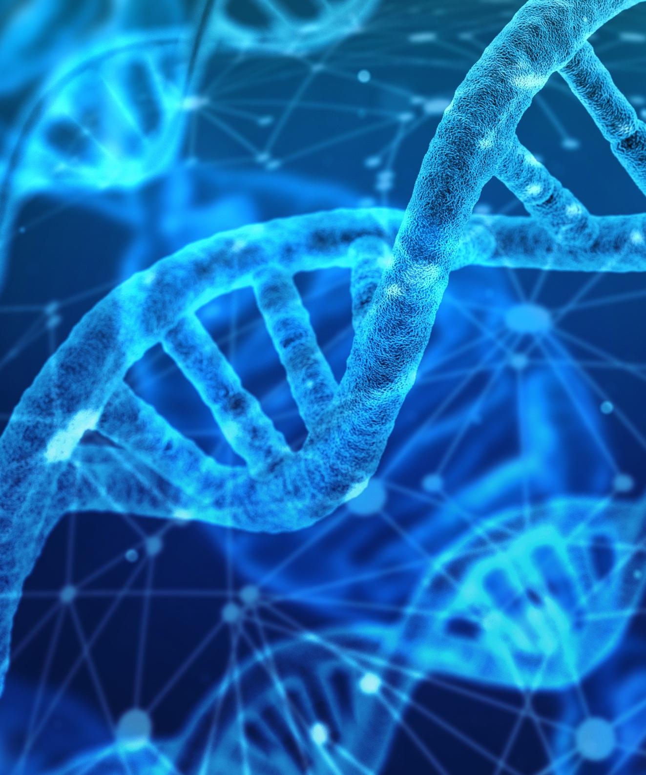 Grafisk återgivning av DNA-kedjor