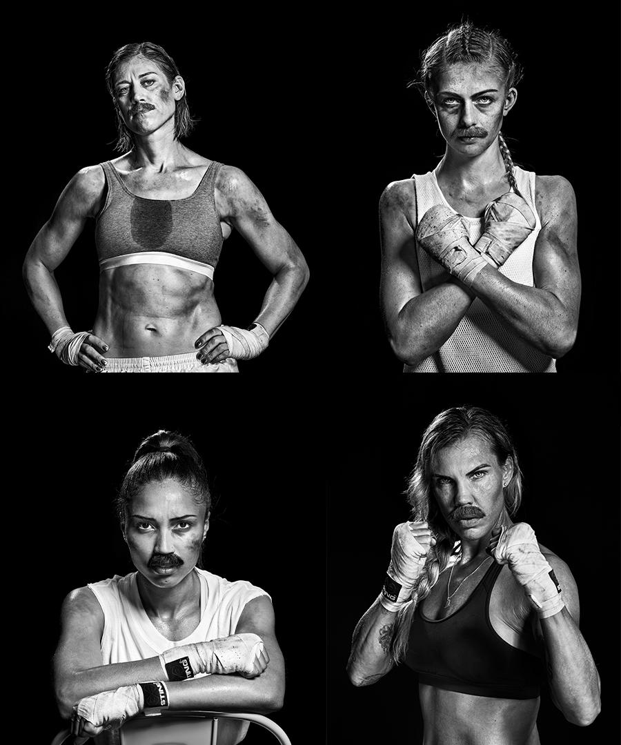 Mustaschkampen 2019:s fyra kvinnliga och boxande ambassadörer