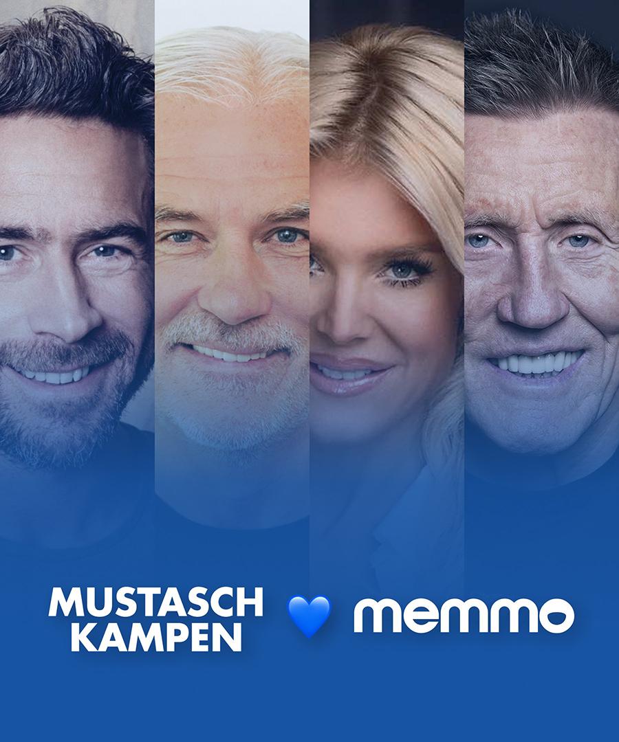 Flera kända profiler som stöttar Mustaschkampen via memmo