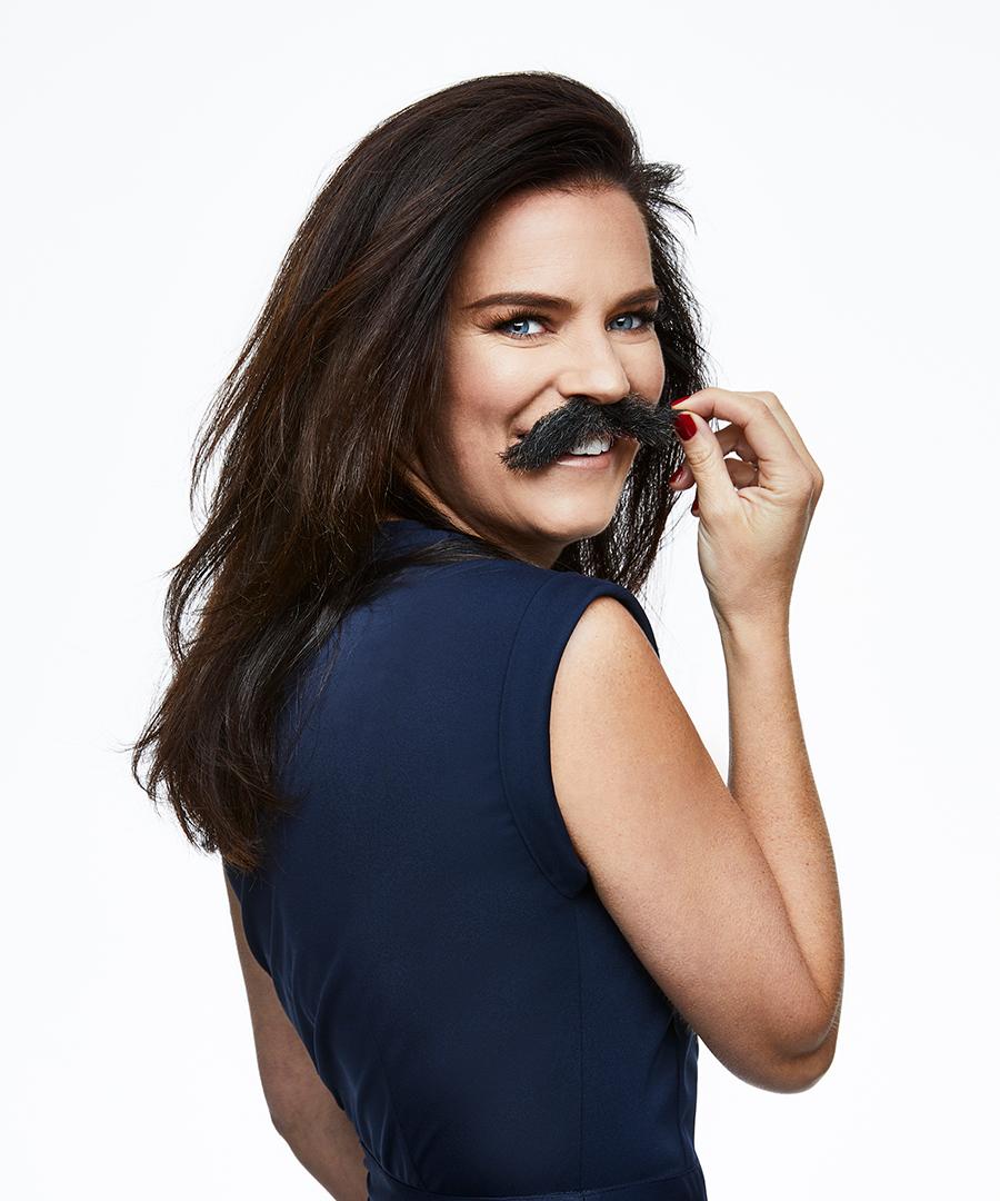 Anna Benson är en av ambassadörerna för Mustaschkampen 2021. Foto: Magnus Ragnvid.
