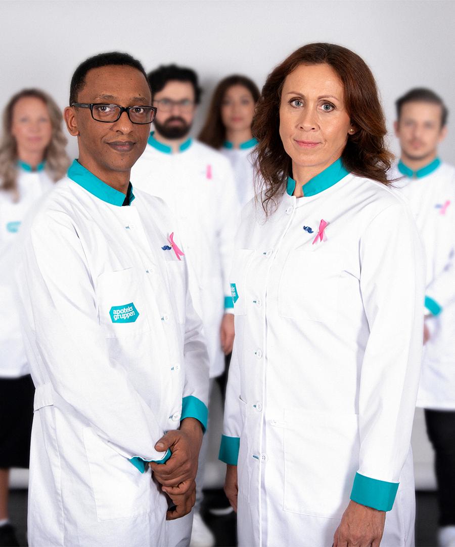 Medarbetare från Apoteksgruppen står tillsammans enade i kampen mot cancer.